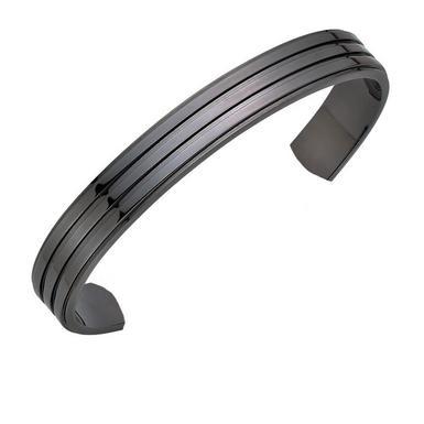 Gunmetal Torque Men's Bracelet