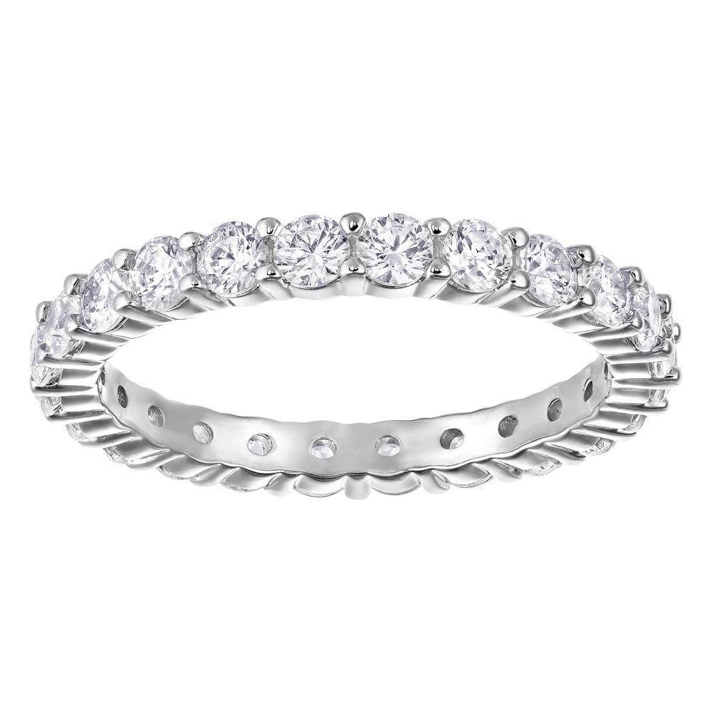 Swarovski Vittore Rhodium Plated Crystal Ring