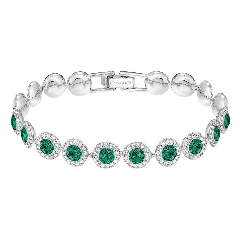 Swarovski Angelic Green Crystal Rhodium Plated Bracelet