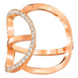 Swarovski Flash Rose Gold Plated Crystal Ring