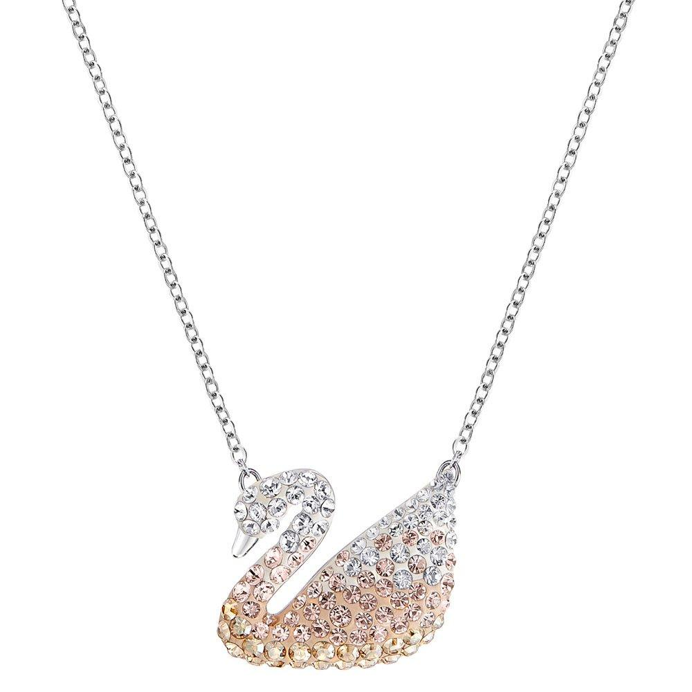 Swarovski Swan Rhodium Plated Crystal Pendant
