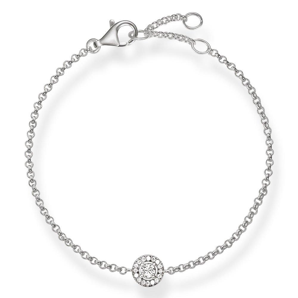 Thomas Sabo Rebel at Heart Silver Cubic Zirconia Bracelet