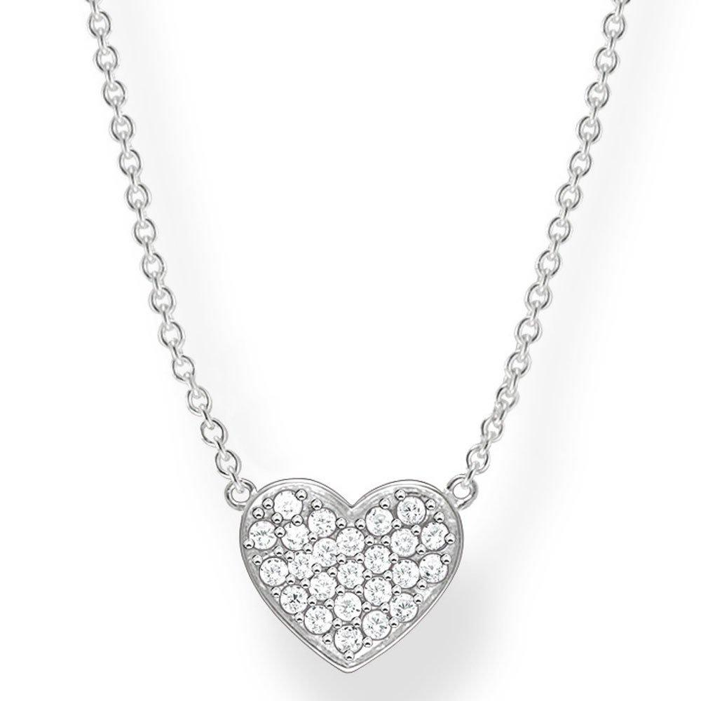 Thomas Sabo Glam & Soul Silver Cubic Zirconia Heart Necklace