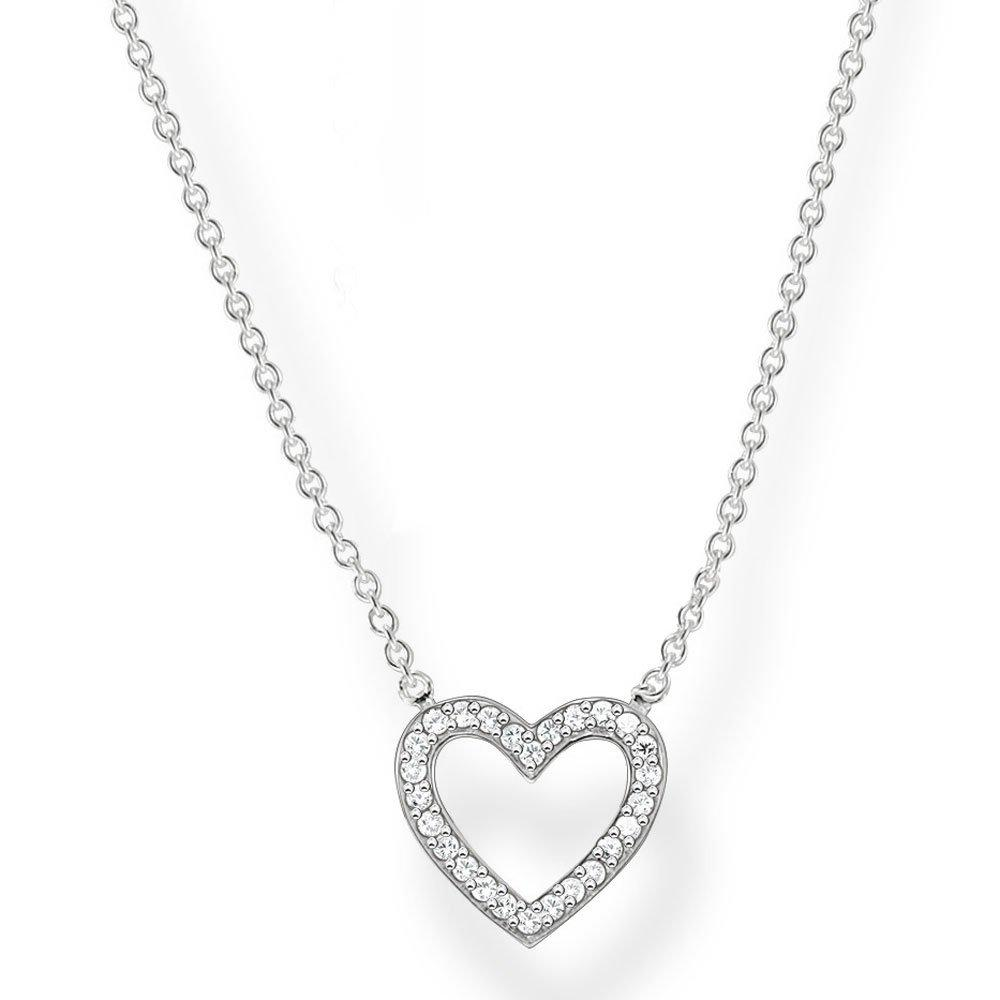 Thomas Sabo Silver Cubic Zirconia Heart Necklace