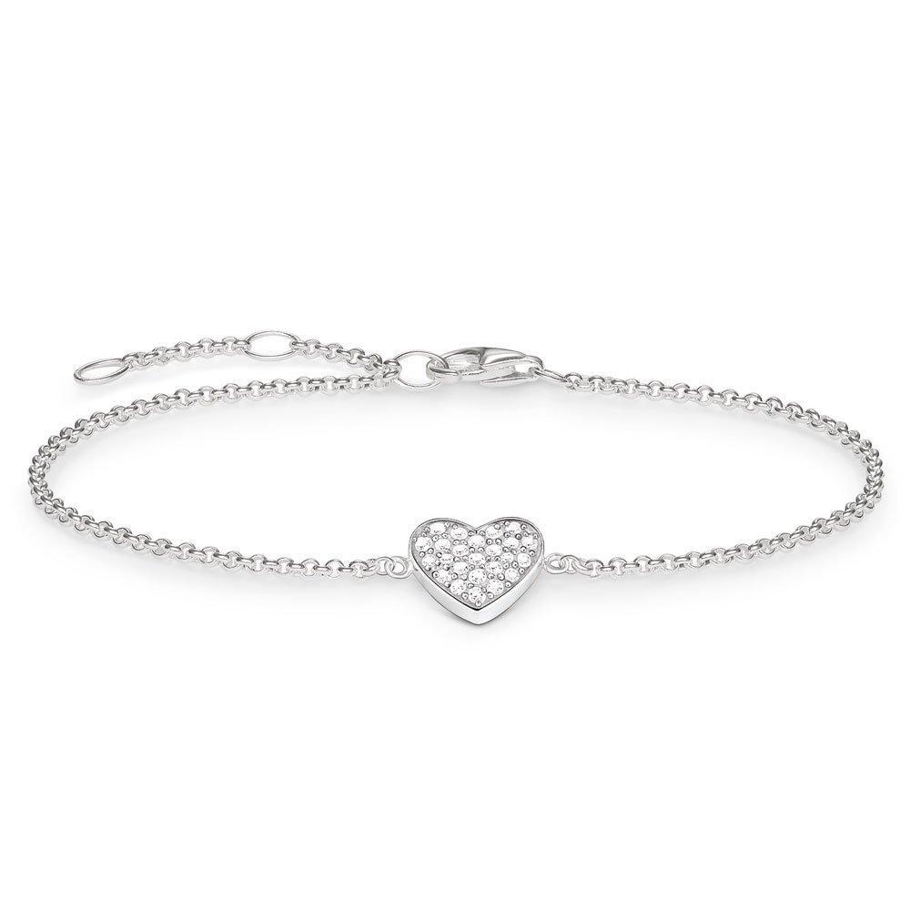 Thomas Sabo Glam & Soul Silver Cubic Zirconia Heart Bracelet