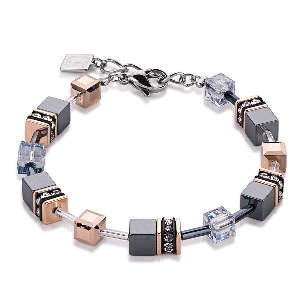 Coeur De Lion Geo Cube Rose Gold Plated Bracelet