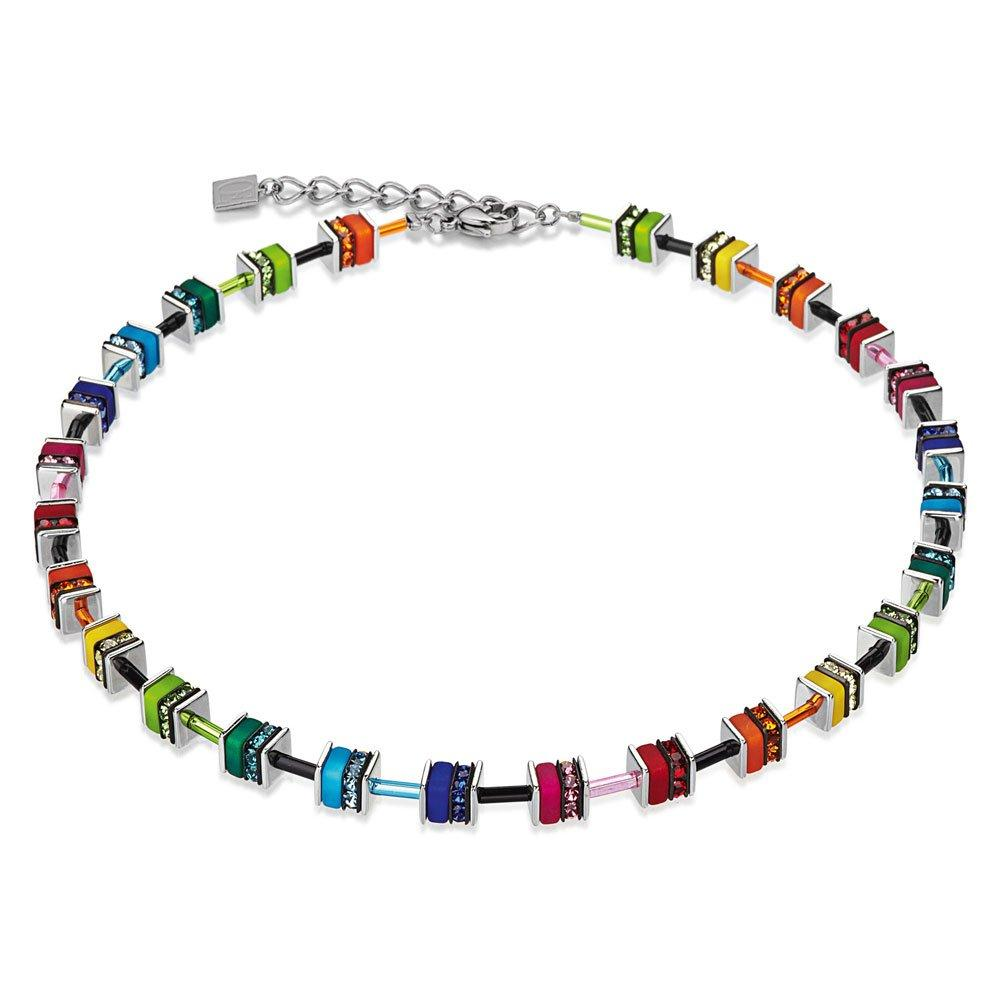 Coeur De Lion Geo Cube Multi-Coloured Necklace