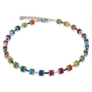 Coeur De Lion Geo Cube Multi-Coloured Necklace