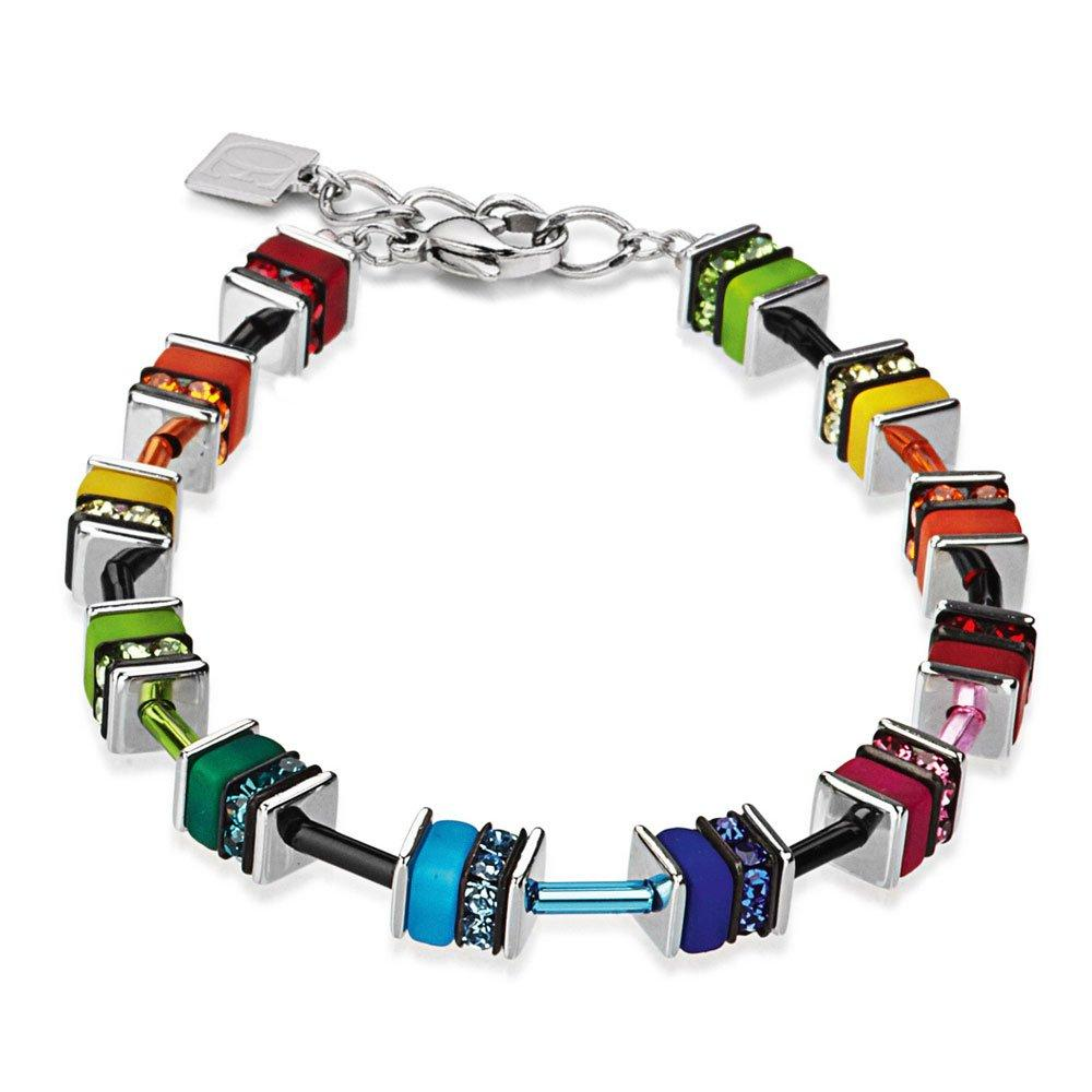 Coeur De Lion Geo Cube Crystal Bracelet
