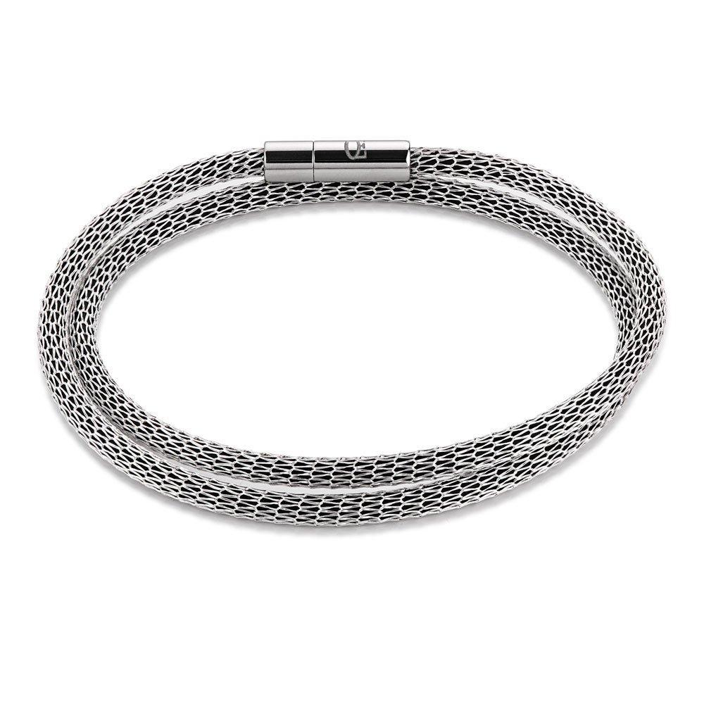Coeur De Lion Intense Silver Plated and Mesh Bracelet