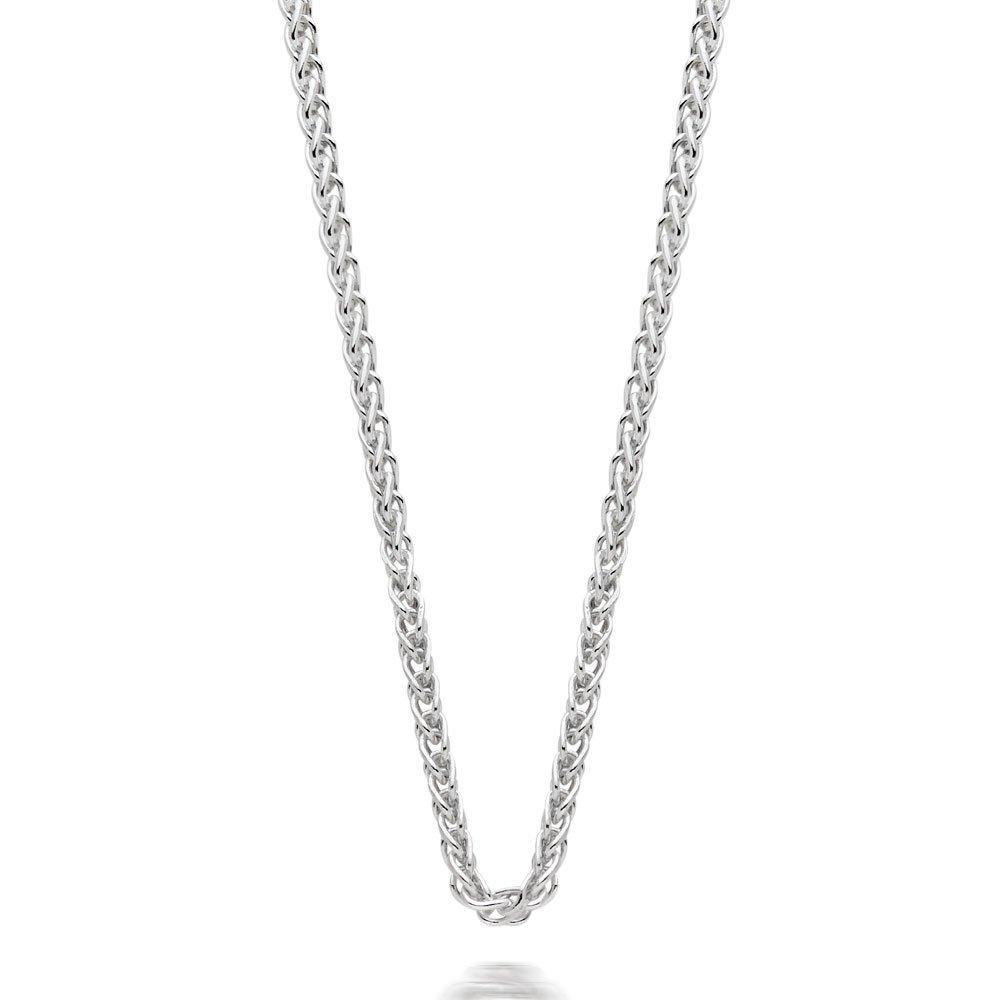 Silver Spiga Chain 60cm