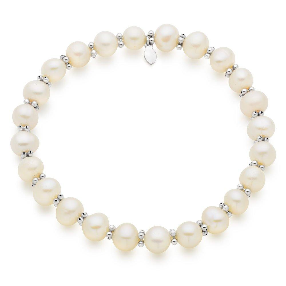 Silver Freshwater Cultured Pearl Bracelet