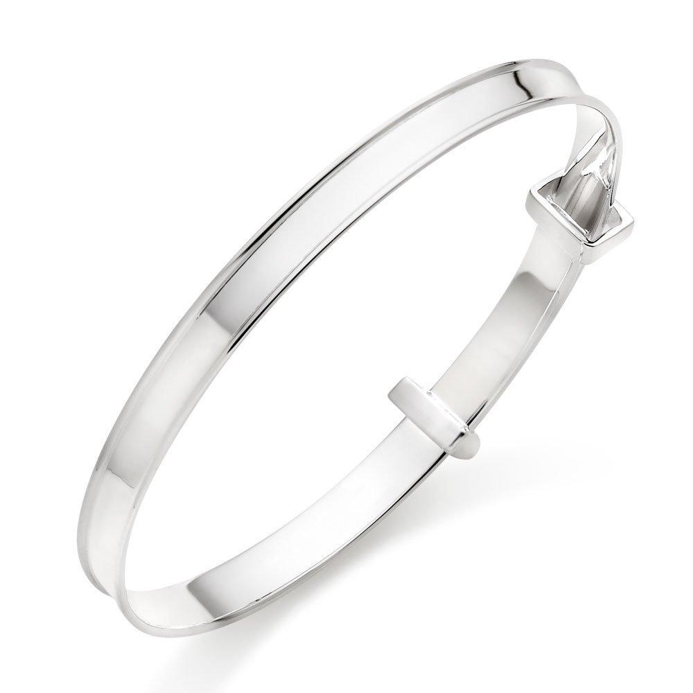 Children's Silver Adjustable Bangle