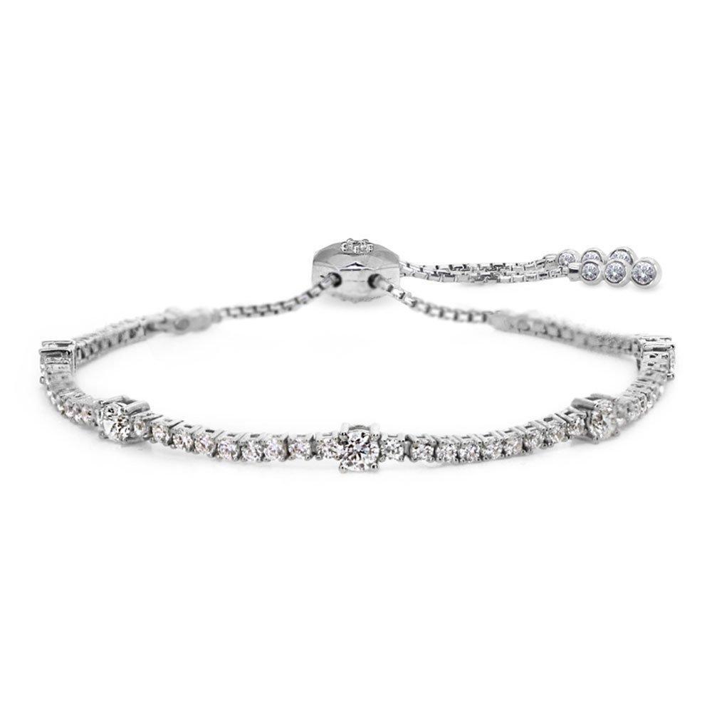 CARAT Phoebe Silver Single Row Millennium Bracelet