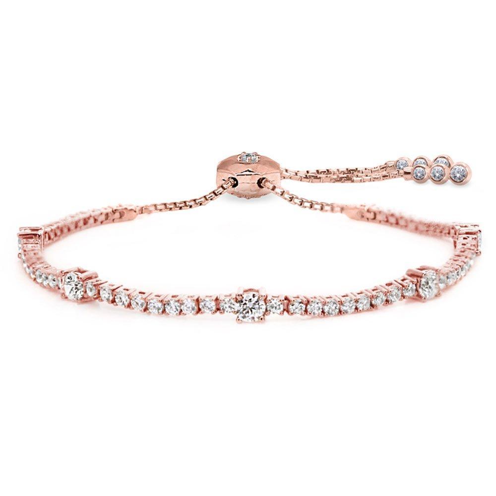 CARAT Phoebe Rose Gold Single Row Millennium Bracelet