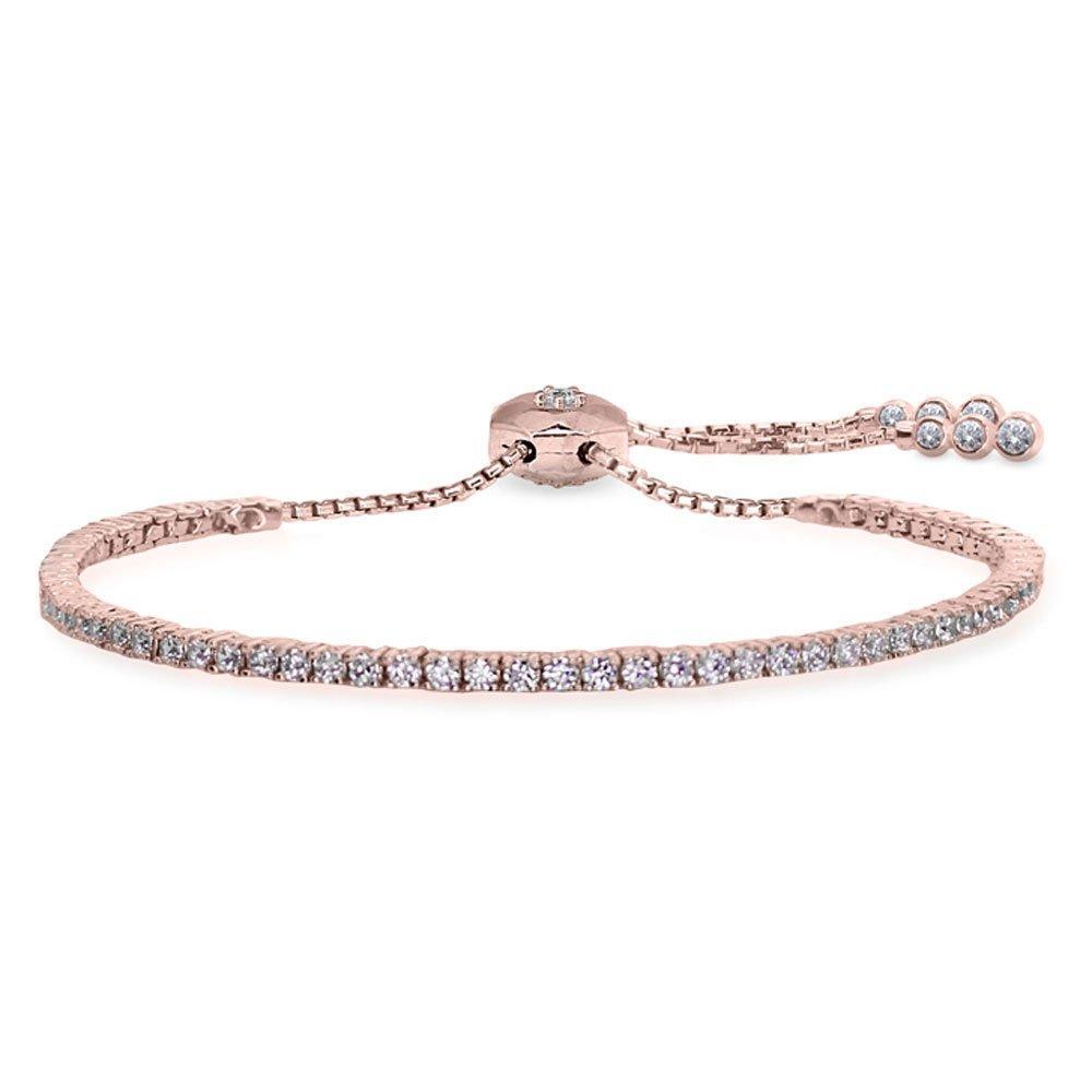 CARAT Lexi Rose Gold Single Row Millennium Bracelet
