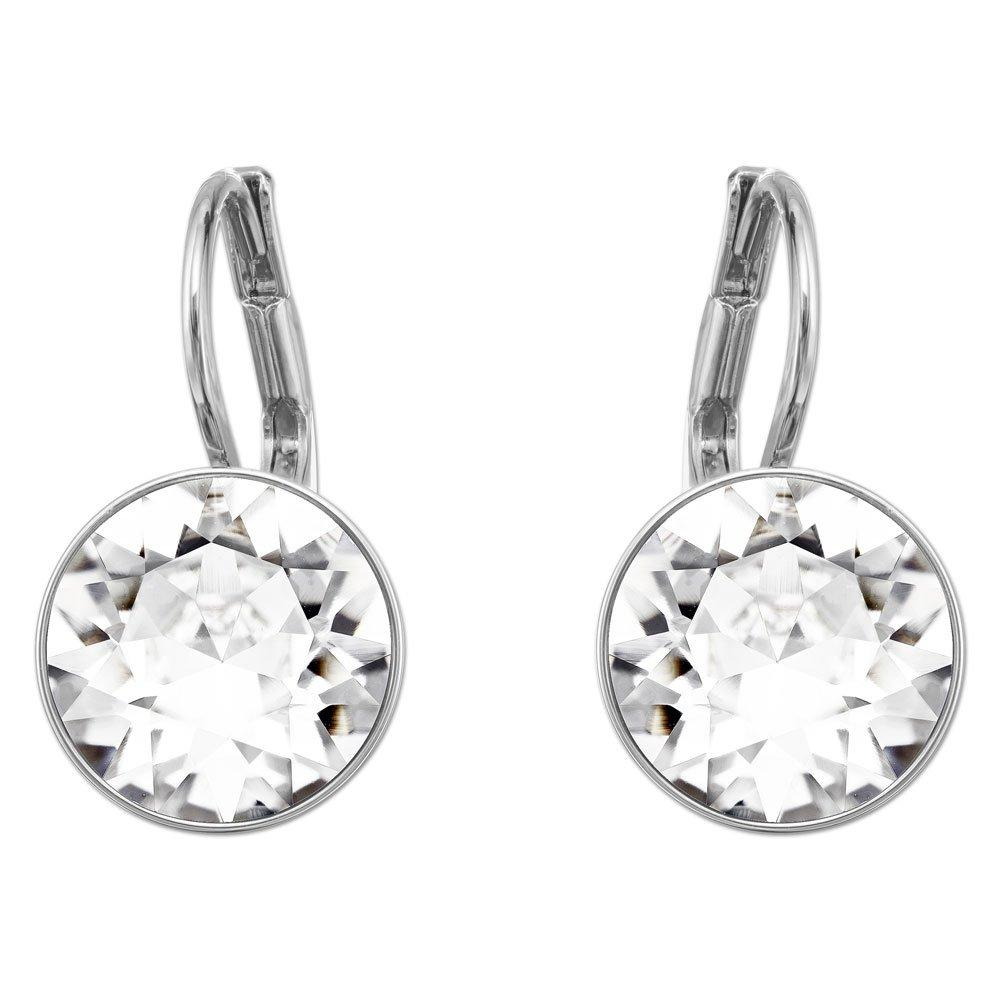 Swarovski Bella Rhodium Plated Crystal Drop Earrings