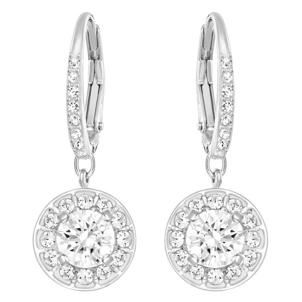 Swarovski Attract Rhodium Plated Crystal Drop Earrings