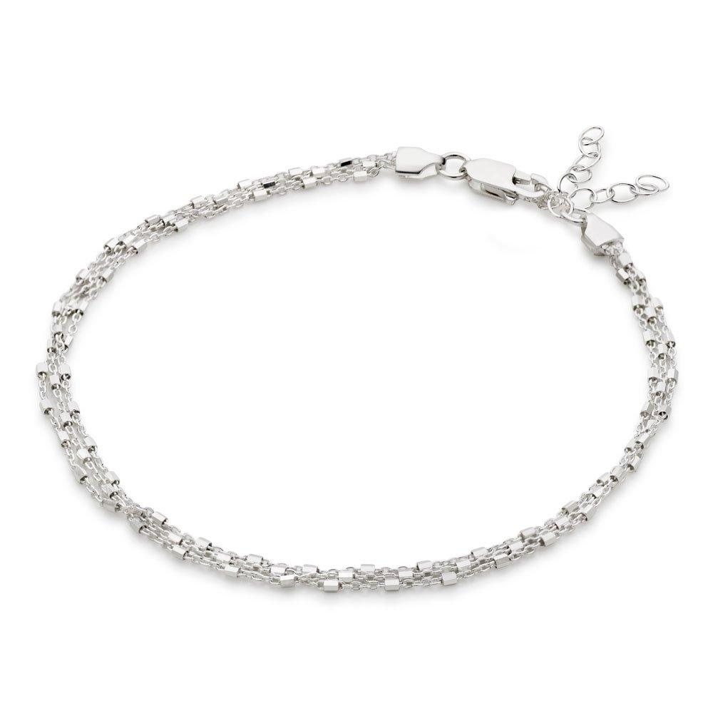 Silver Triple Strand Anklet