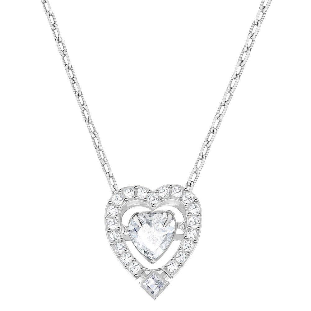 Swarovski Sparkling Dance Rhodium Plated Heart Necklace
