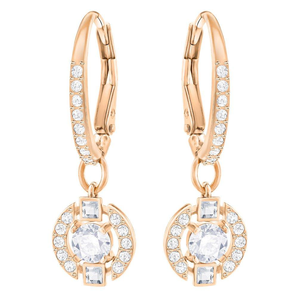Swarovski Sparkling Dance Rose Gold Plated Crystal Drop Earrings
