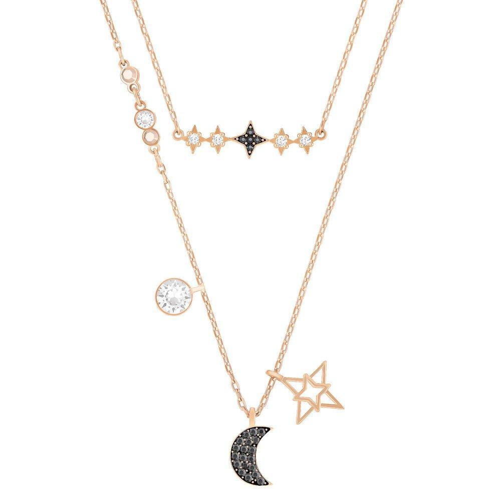 Swarovski Moon Rose Gold Plated Crystal Necklace