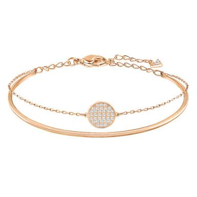 Swarovski Ginger Rose Gold Tone Crystal Bangle