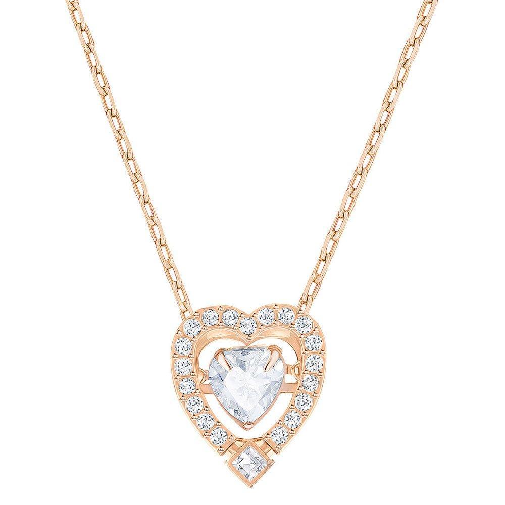 Swarovski Sparkling Dance Rose Gold Plated Crystal Heart Necklace