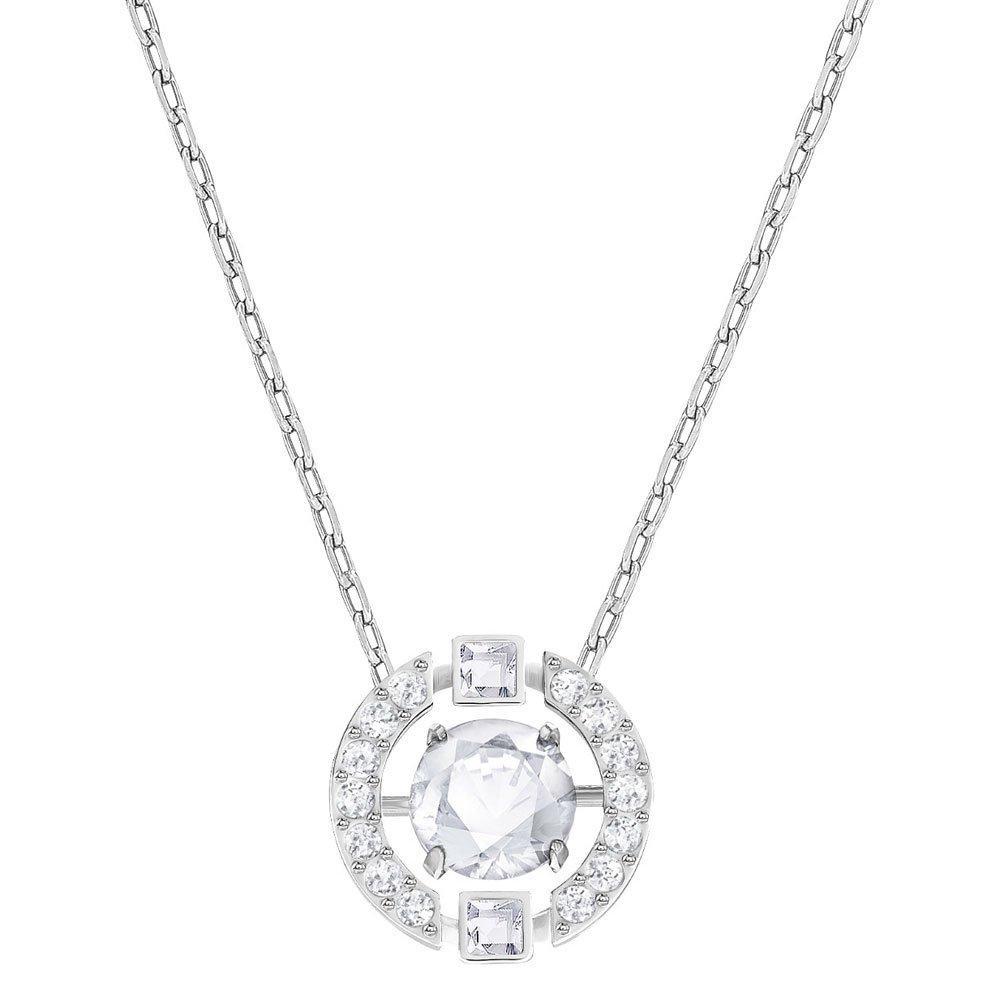 Swarovski Sparkling Dance Rhodium Plated Crystal Necklace