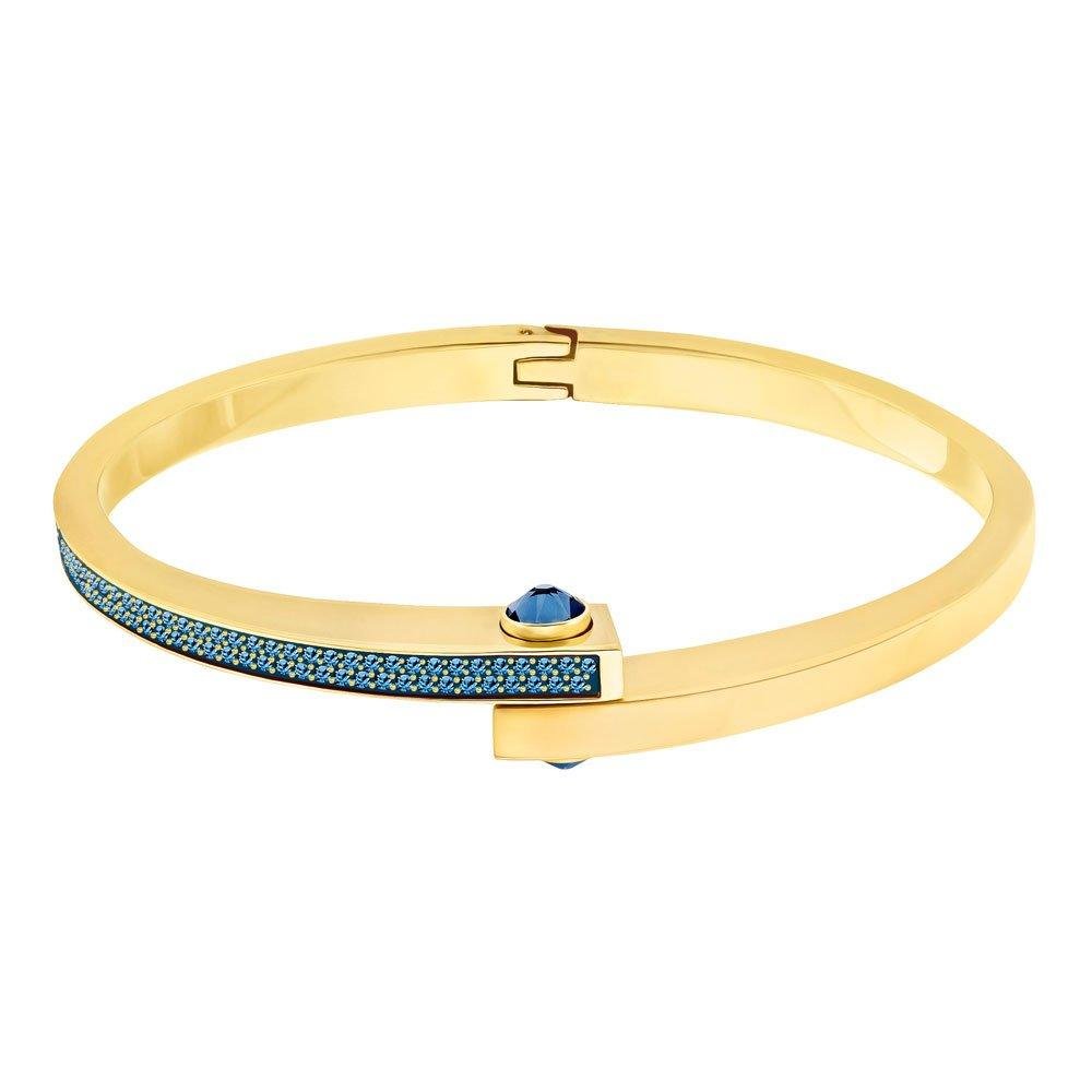 Swarovski Gold PVD Blue Crystal Bangle