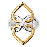 Links of London Infinite Love Silver & 18ct Gold Vermeil Ring