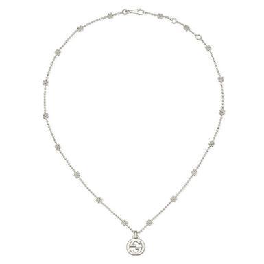 Gucci Interlocking G Silver Necklace