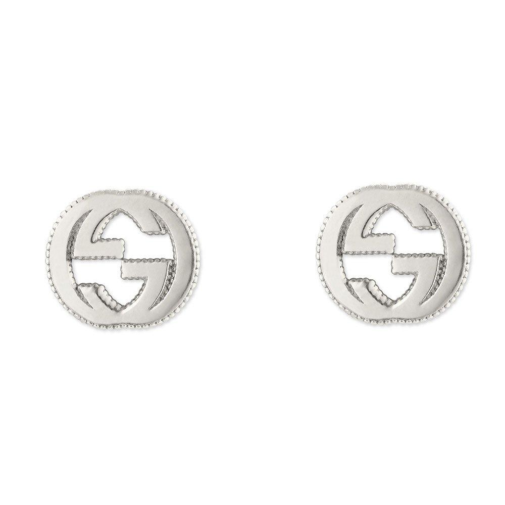 Gucci Interlocking G Silver Stud Earrings