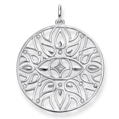 Thomas Sabo Glam & Soul Silver Diamond Evil Eye Pendant
