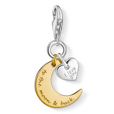 Thomas Sabo Generation Charm Club Silver & 18ct Gold Plated Moon Charm