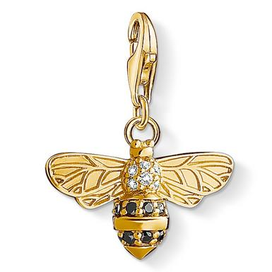 Thomas Sabo Generation Charm Club 18ct Gold Plated Silver Cubic Zirconia Bee Charm