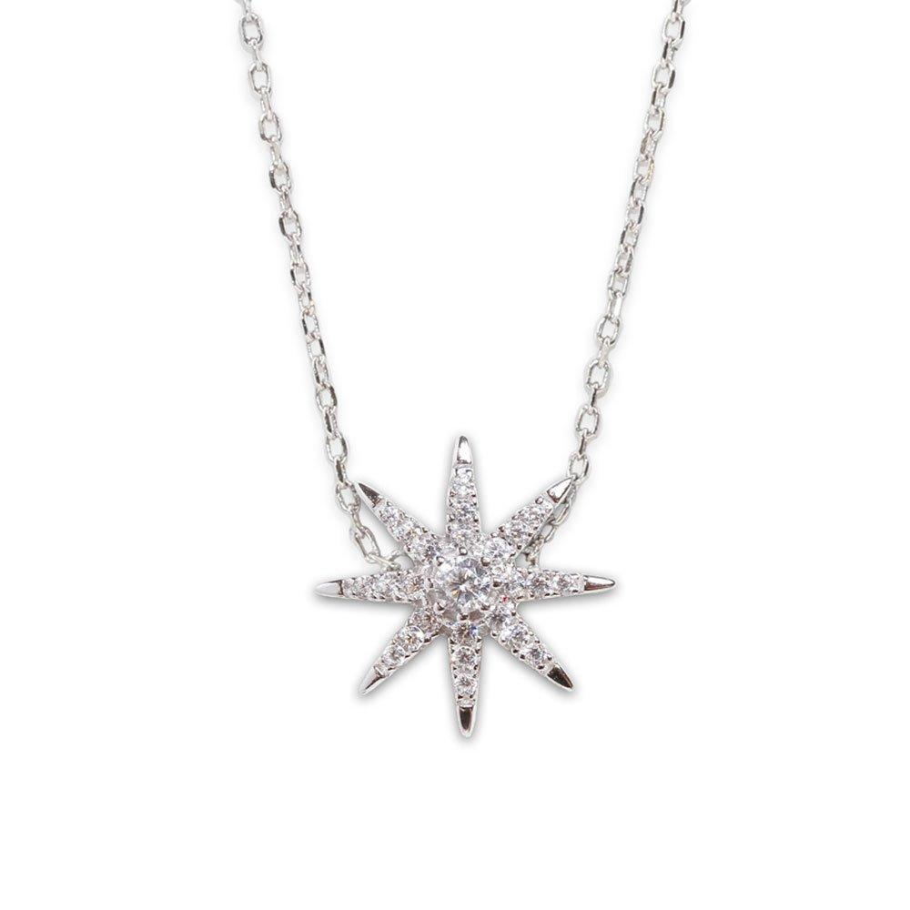 CARAT Carat* London Atrias White Gold Plated Silver Star Necklace
