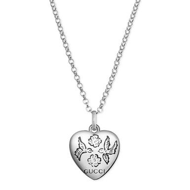 Gucci Blind For Love Silver Necklace