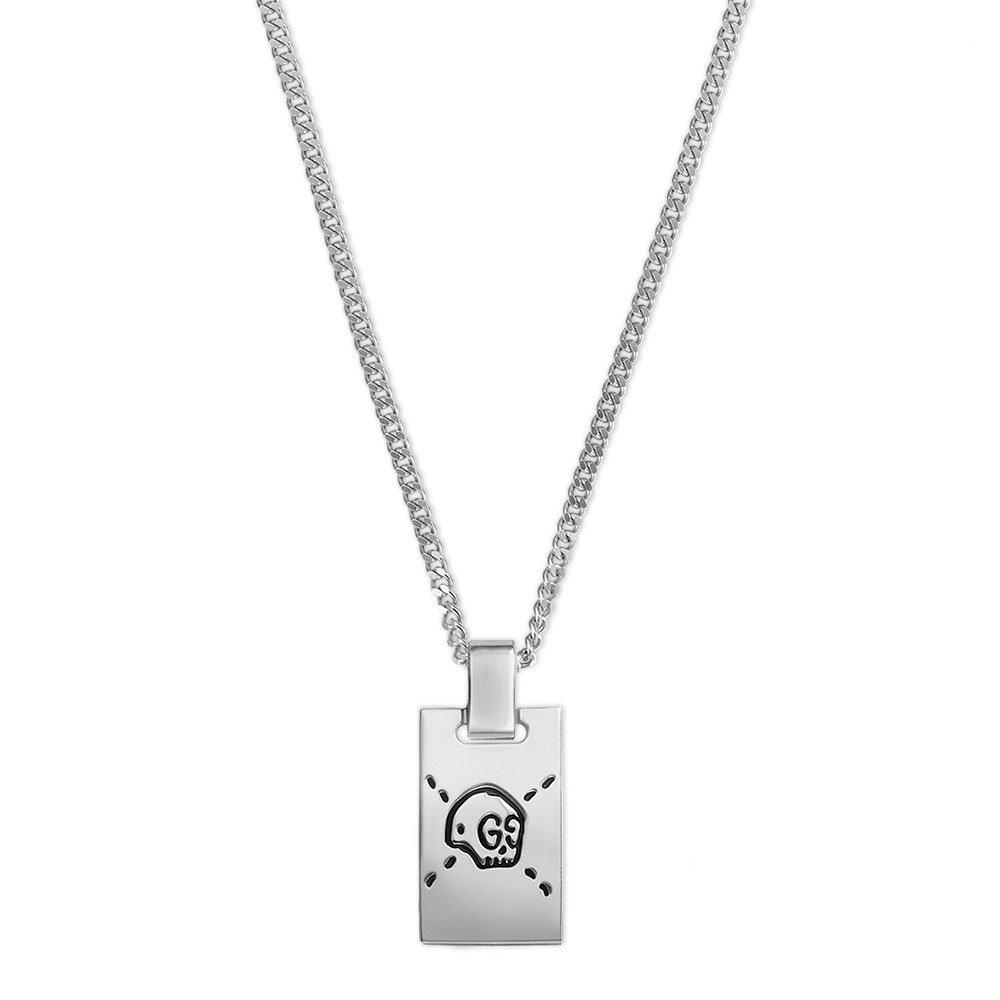 Gucci Ghost Skull Silver Necklace