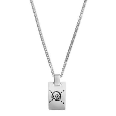 Gucci Ghost Silver Skull Necklace