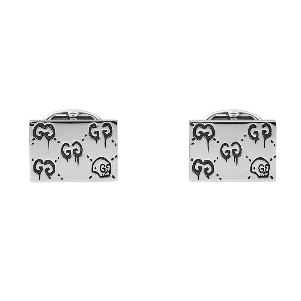 Gucci Ghost Skull Silver Cufflinks