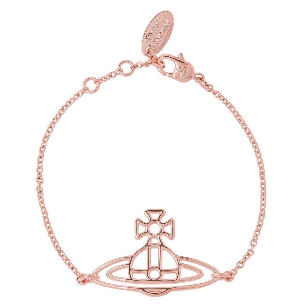 Vivienne Westwood Thin Lines Flat Orb Rose Gold Tone Bracelet