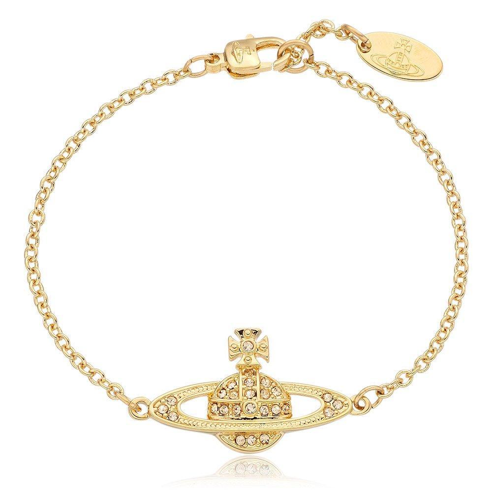 Vivienne Westwood Diamante Gold Tone Orb Bracelet