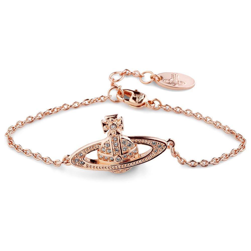 Vivienne Westwood Rose Gold Tone Orb Crystal Bracelet