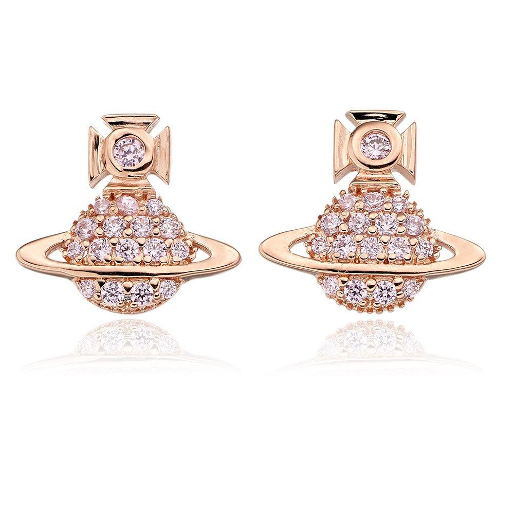 Vivienne Westwood Tamia Rose Gold Tone Earrings