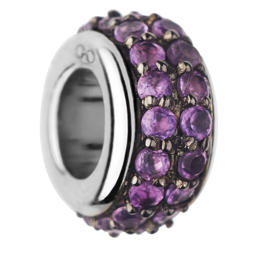 Links of London Sweetie Silver and Amethyst Pave Bead