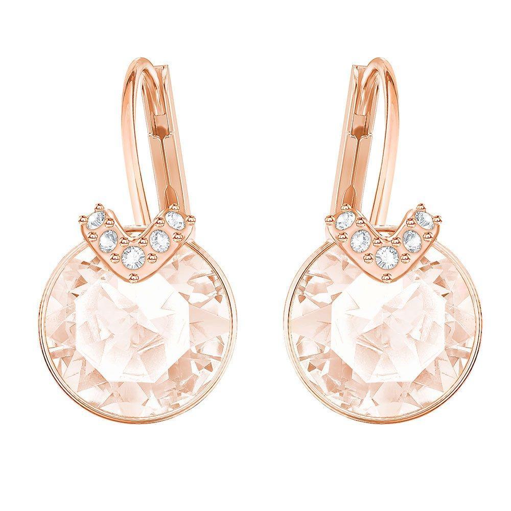 Swarovski Bella Crystal Rose Gold Plated Drop Earrings