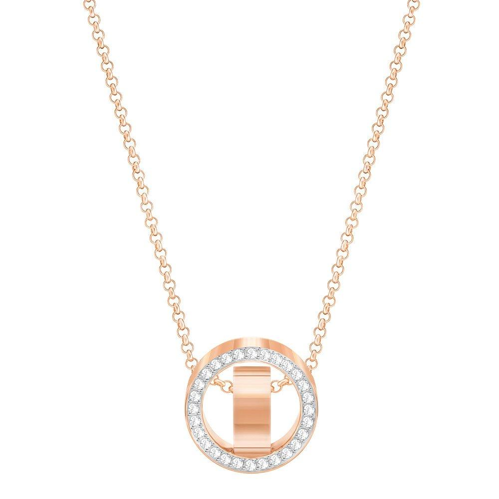 Swarovski Hollow Rose Gold Plated Crystal Pendant