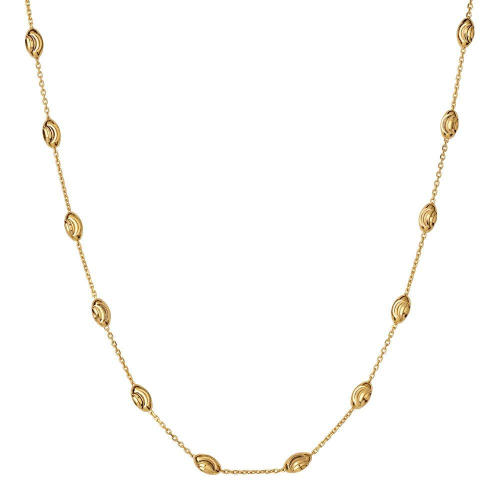 Links of London Gold Plated Silver Beaded Necklace
