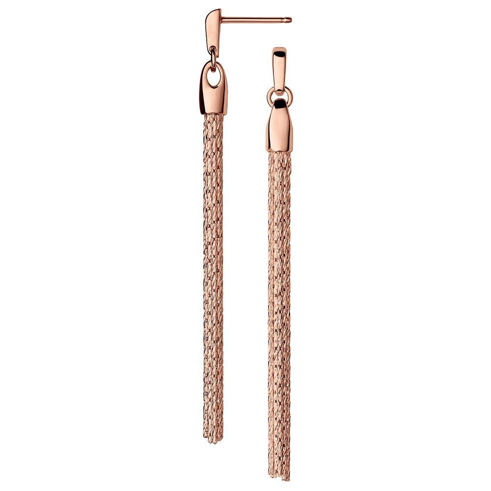 Links of London Silver Rose Gold Plated Drop Earrings
